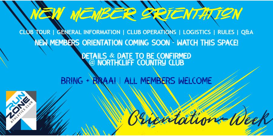 New Member Club Orientation